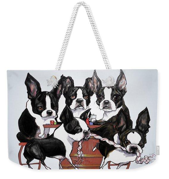 Boston Terrier - Dogs Playing Poker Weekender Tote Bag