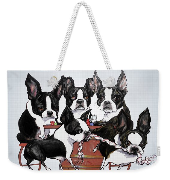Boston Terrier - Dogs Playing Poker Weekender Tote Bag