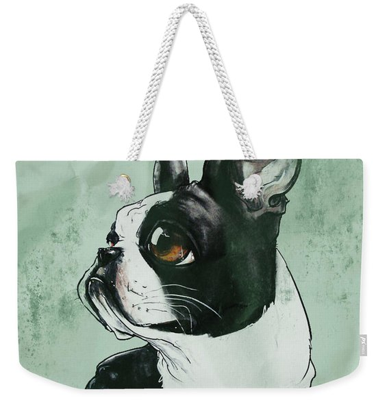 Boston Terrier - Green  Weekender Tote Bag