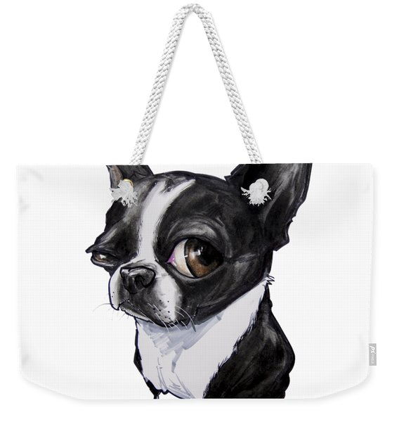 Boston Terrier Weekender Tote Bag