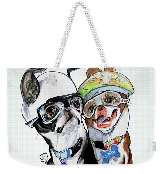 Boston Terriers - Dumb And Dumber Weekender Tote Bag