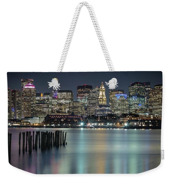 Boston's Skyline From Lopresti Park Weekender Tote Bag