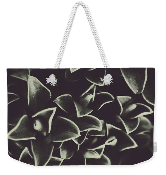 Botanical Blooms In Darkness Weekender Tote Bag