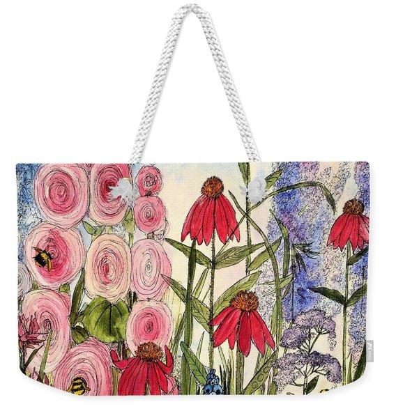 Botanical Wildflowers Weekender Tote Bag
