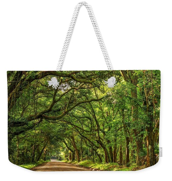 Botany Bay Edisto Island South Carolina Road Light And Shadow Weekender Tote Bag