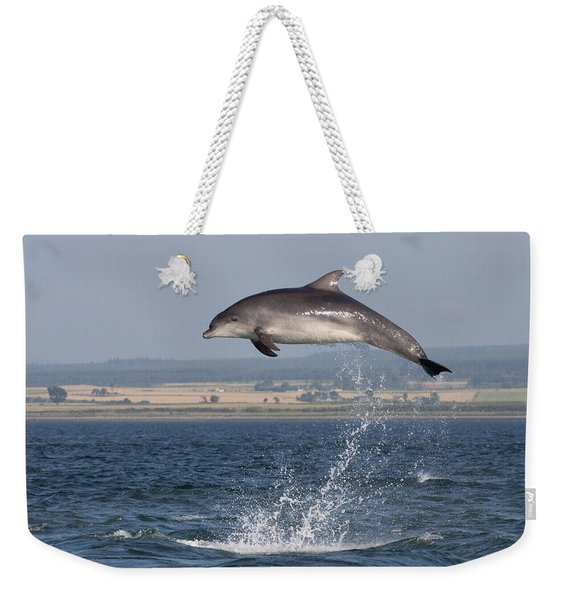 High Jump - Bottlenose Dolphin  - Scotland #42 Weekender Tote Bag