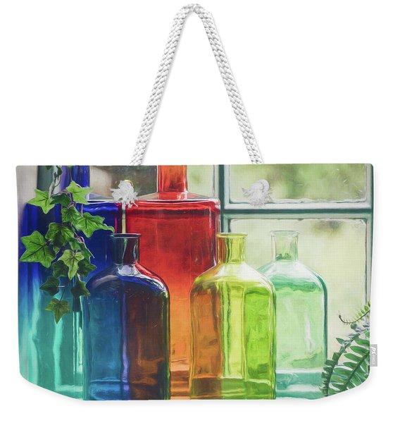Bottles In The Window Weekender Tote Bag