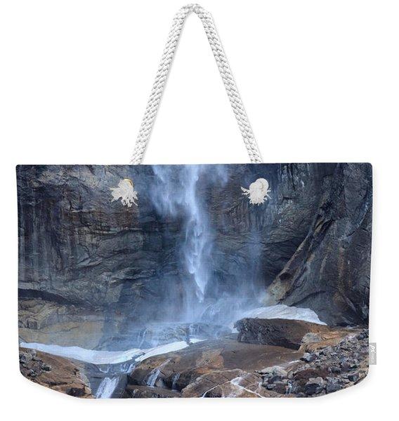 Bottom Part Of Upper Yosemite Waterfall Weekender Tote Bag