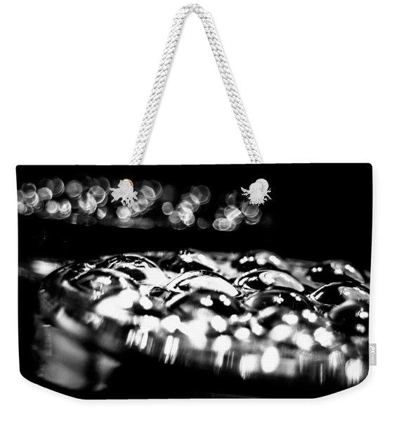Bottom Side Of Glass Tumblers Weekender Tote Bag