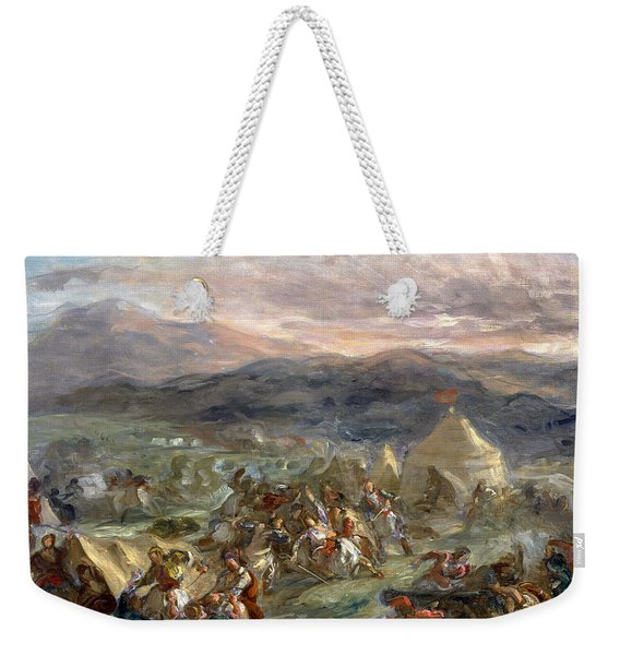 Botzaris Surprises The Turkish Camp And Falls Fatally Wounded Weekender Tote Bag