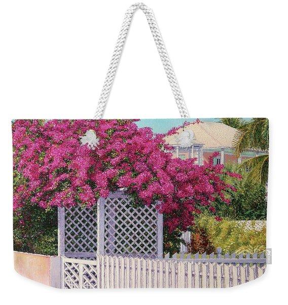 Bougainvillea Crown Weekender Tote Bag