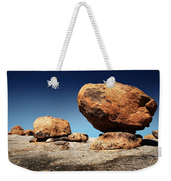 Boulder On Solid Rock Weekender Tote Bag