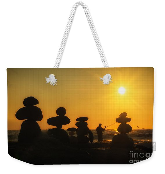 Boulders By The Sea Weekender Tote Bag