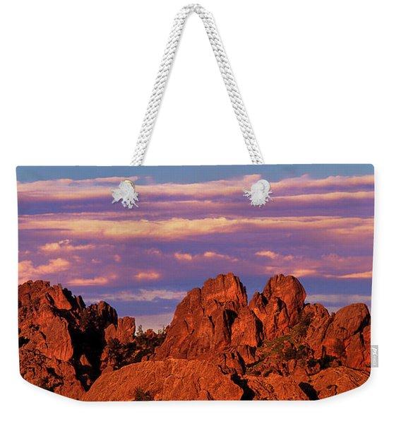 Boulders Sunset Light Pinnacles National Park Californ Weekender Tote Bag