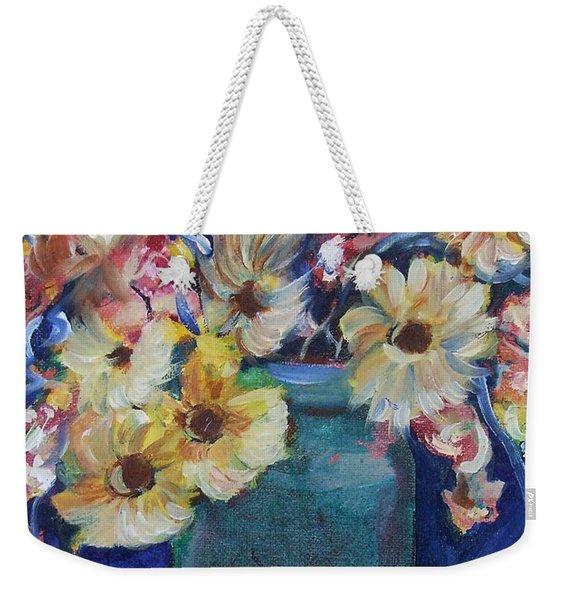 Bouquet Flowers Of Blue  Weekender Tote Bag