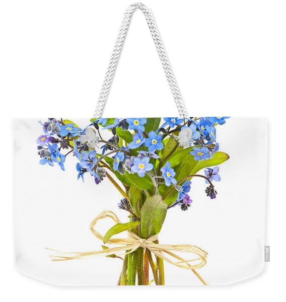 Bouquet Of Forget-me-nots Weekender Tote Bag