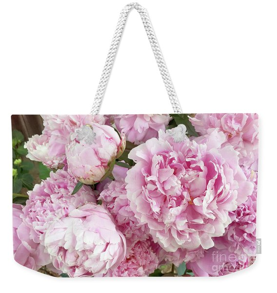 Bouquet Of Pink Peonies - Garden Peonies - Pink Shabby Chic Peony Prints Home Decor Weekender Tote Bag