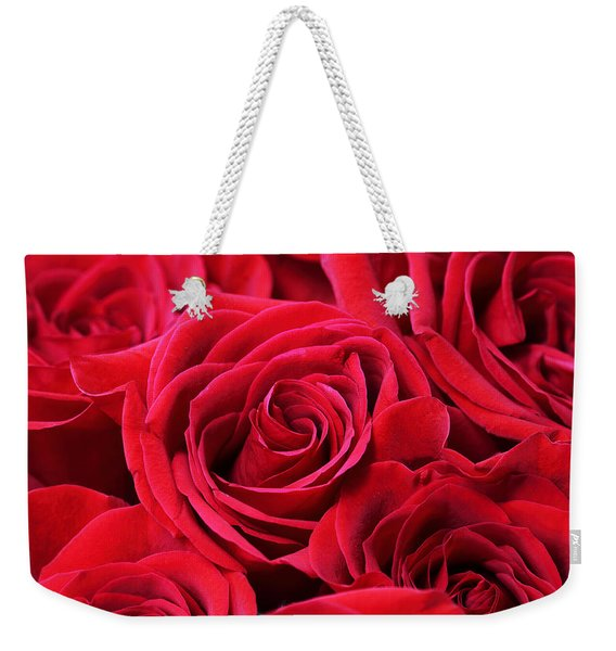 Bouquet Of Red Roses Weekender Tote Bag