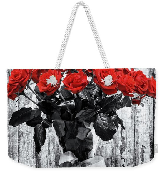 Bouquet Of Roses Weekender Tote Bag