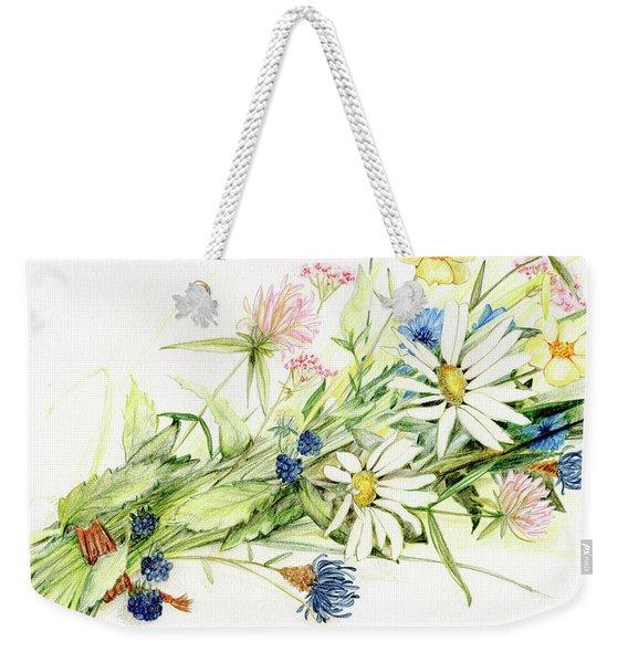 Bouquet Of Wildflowers Weekender Tote Bag