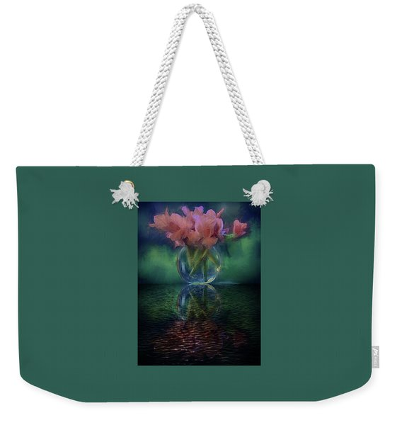 Bouquet Reflected Weekender Tote Bag