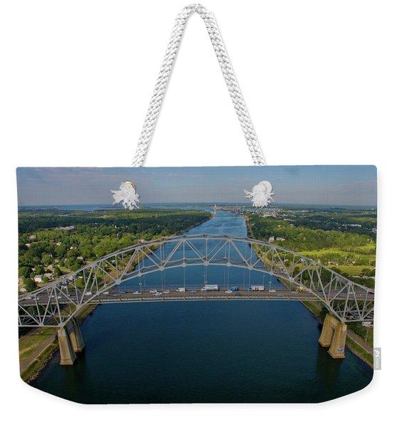 Bourne Bridge, Ma Weekender Tote Bag