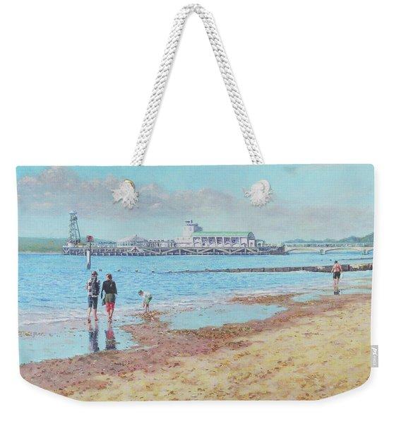 Bournemouth Pier Late Summer Morning Weekender Tote Bag