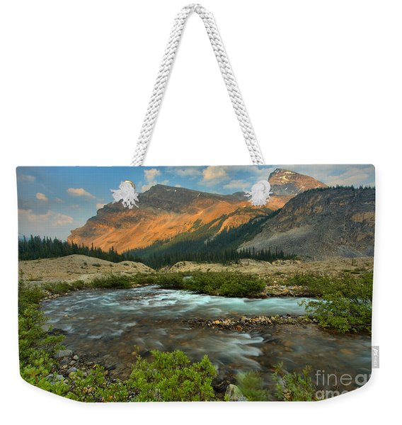 Bow Glacier Falls Trail Weekender Tote Bag