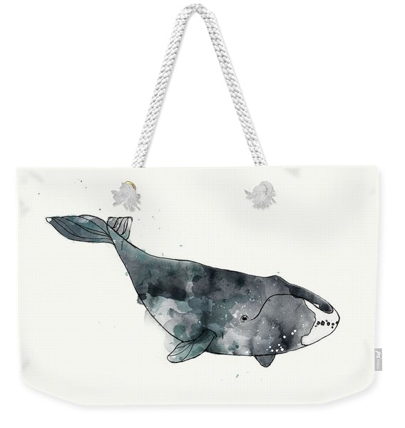 Bowhead Whale From Whales Chart Weekender Tote Bag