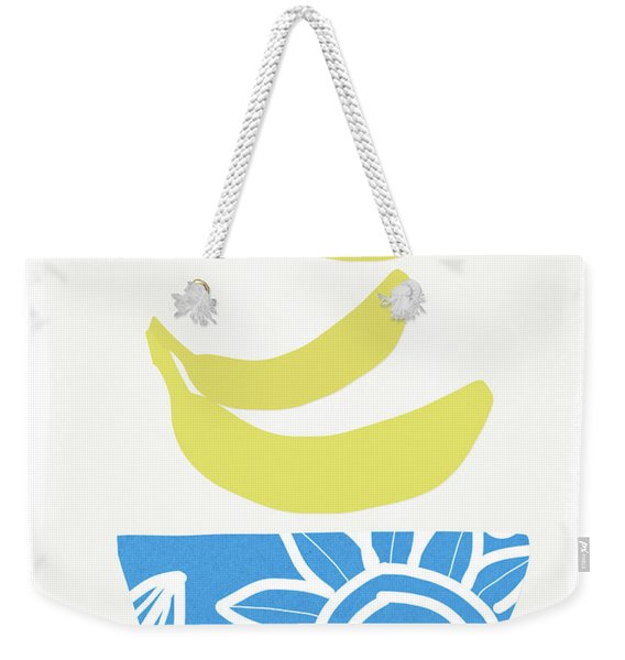 Bowl Of Bananas- Art By Linda Woods Weekender Tote Bag