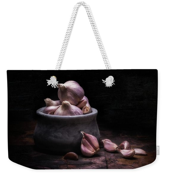Bowl Of Garlic Weekender Tote Bag