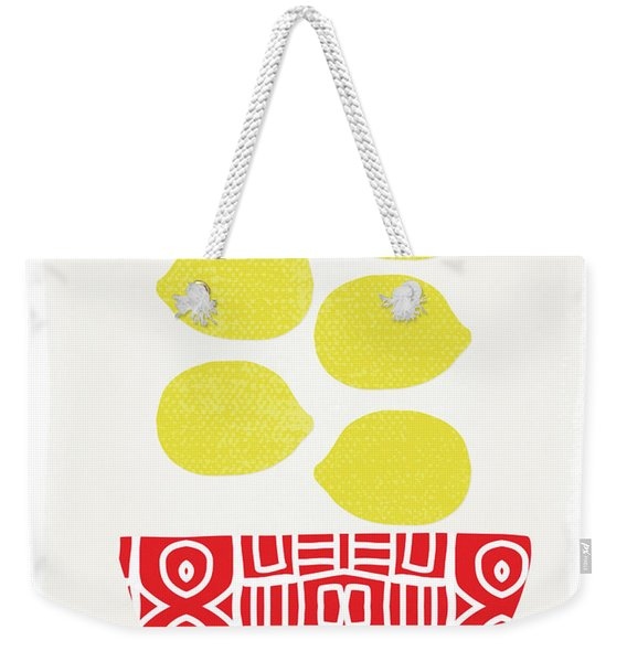 Bowl Of Lemons- Art By Linda Woods Weekender Tote Bag