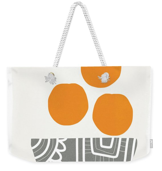 Bowl Of Oranges- Art By Linda Woods Weekender Tote Bag