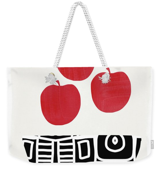 Bowl Of Red Apples- Art By Linda Woods Weekender Tote Bag