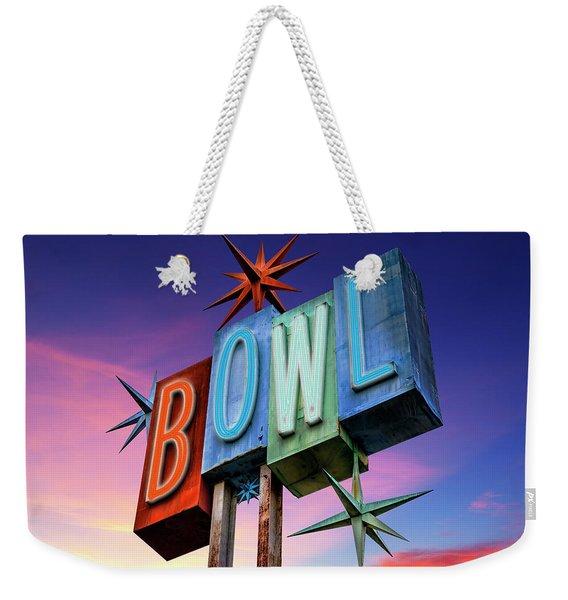 Bowling Americana Weekender Tote Bag