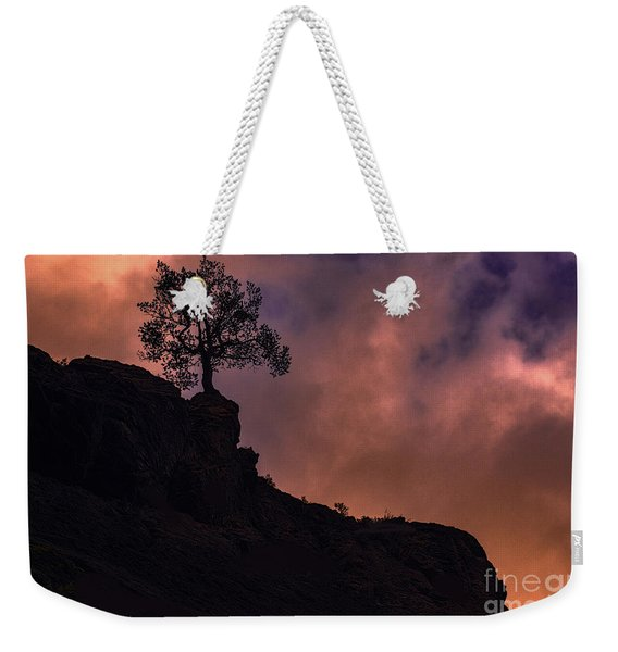 Box Canyon Sunset Weekender Tote Bag