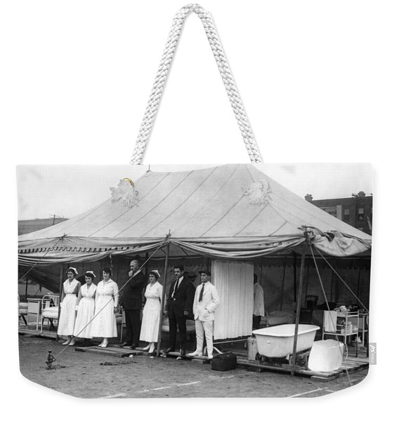 Boxing Match Field Hospital Weekender Tote Bag