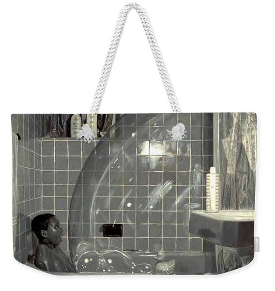 Boy And The Bubble Weekender Tote Bag