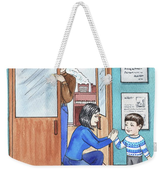 Boy At The Music Class Weekender Tote Bag
