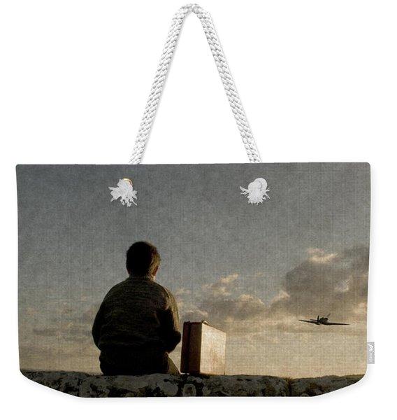 Boy On Wall Weekender Tote Bag