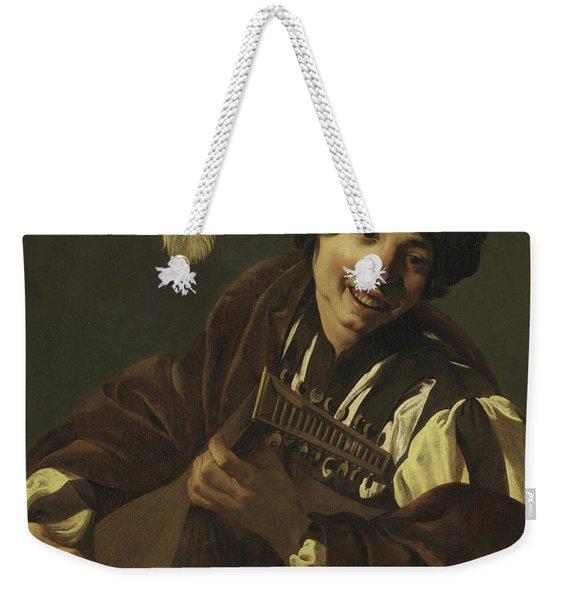 Boy Playing The Lute Weekender Tote Bag