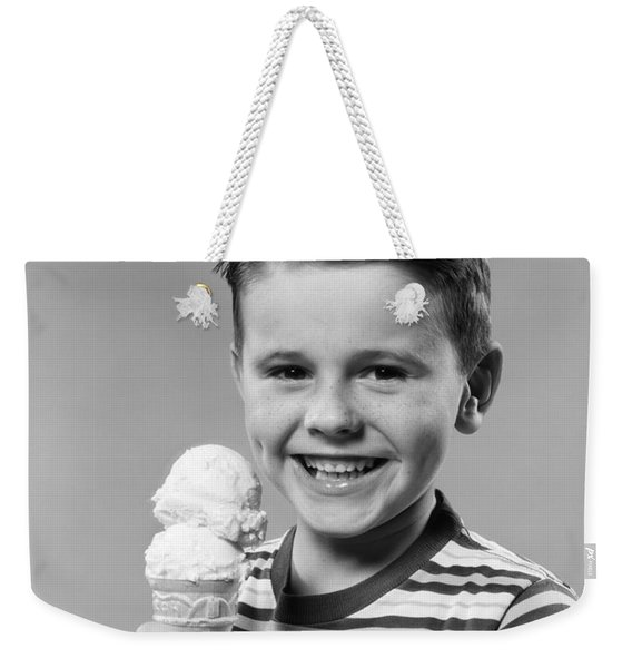 Boy With Ice Cream Cone, C.1950s Weekender Tote Bag