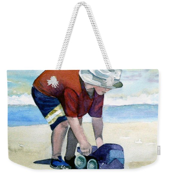 Boy With Truck Weekender Tote Bag