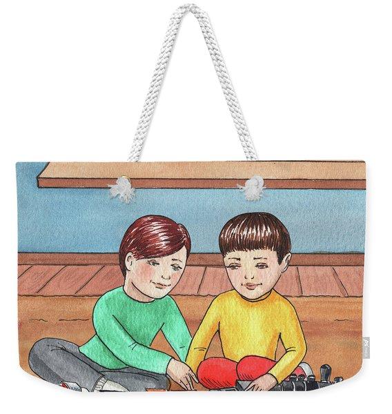 Boys Like Trains Weekender Tote Bag