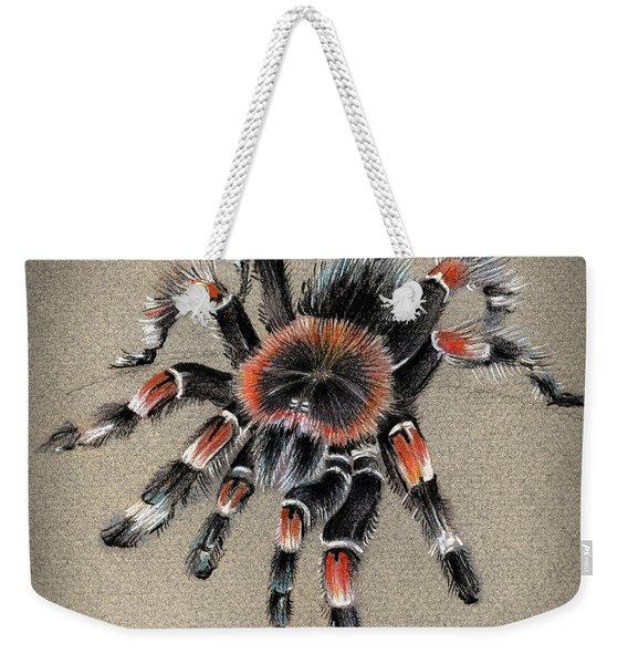 Brachypelma Smithi  Mexican Red Knee Tarantula Weekender Tote Bag