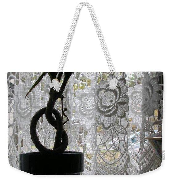 Braided Dracena On Sill Weekender Tote Bag