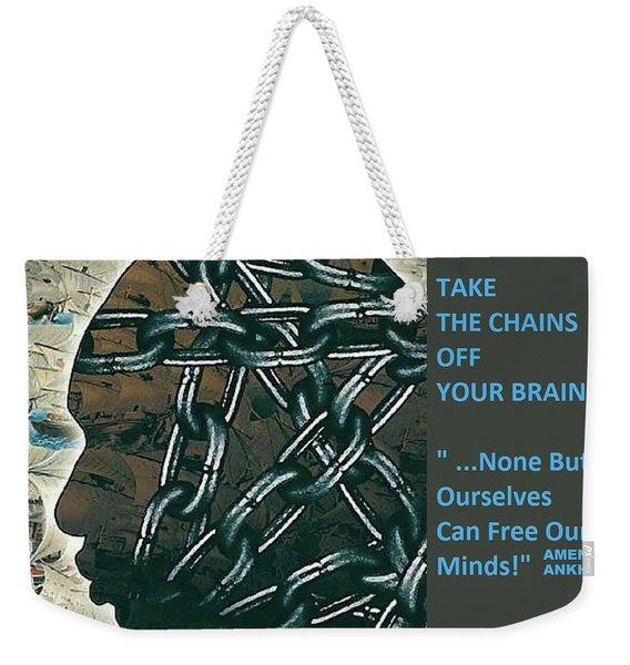 Brain Chains Weekender Tote Bag