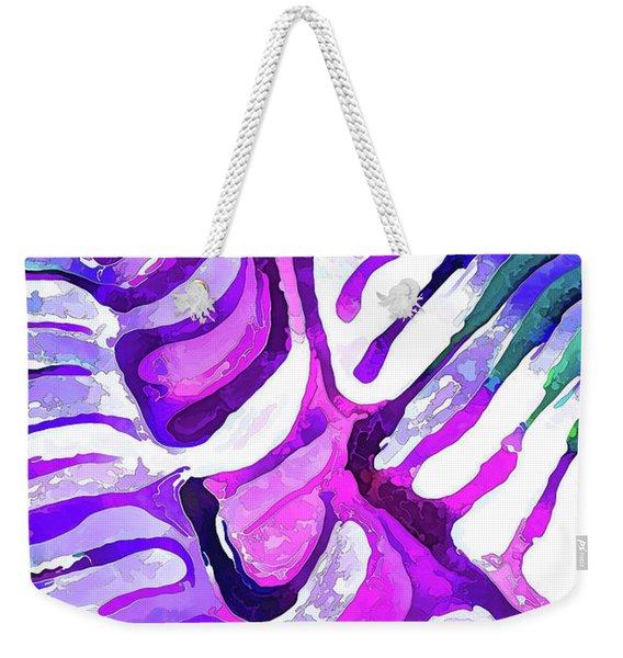 Brain Coral Abstract 4 In Purple Weekender Tote Bag
