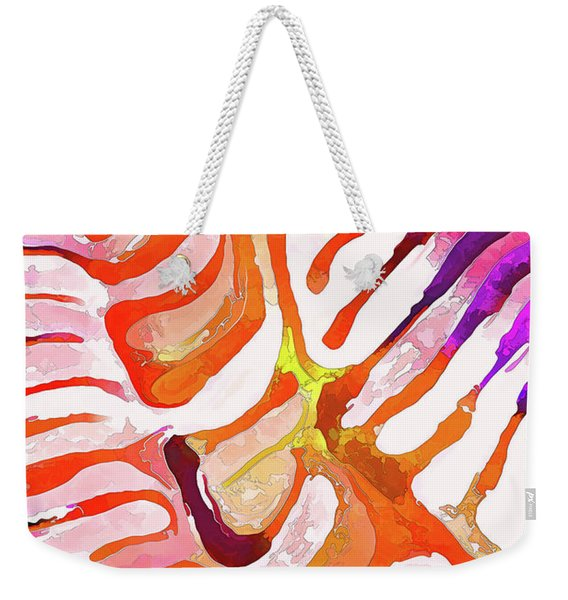 Brain Coral Abstract 6 In Orange Weekender Tote Bag