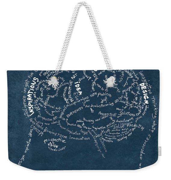 Brain Drawing On Chalkboard Weekender Tote Bag